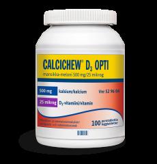 CALCICHEW D3 OPTI MANSIKKA-MELONI 500 mg/25 mikrog purutabl 100 kpl
