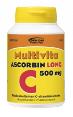 MULTIVITA ASCORBIN LONG 500 MG 200 TABL